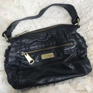 Fossil 54 leather Black Handbag